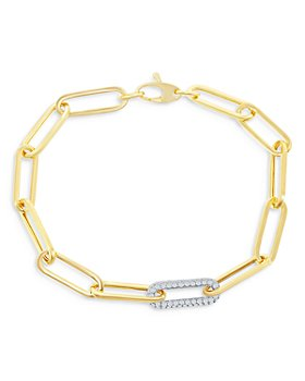 Bloomingdale's - Diamond Paperclip Bracelet in 14K White & Yellow Gold, 0.70 ct. t.w. - 100% Exclusive