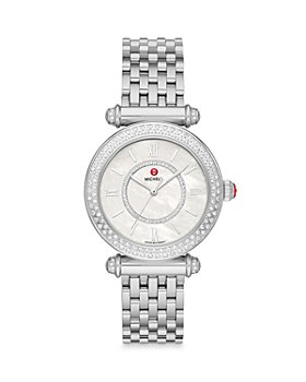MICHELE - Caber Stainless Steel Diamond Watch, 35mm (40% off) - Comparable value $2395