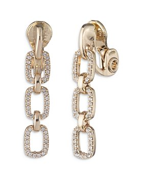Ralph Lauren - Crystal Clip On Link Earrings
