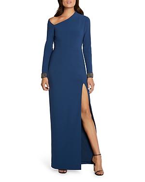 Beaded Asymmetric Gown
