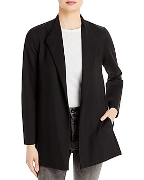 Eileen Fisher - Relaxed Fit Open Front Long Jacket