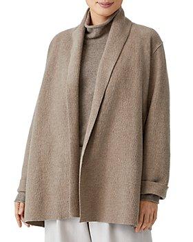 Eileen Fisher - Open Front Wool Jacket