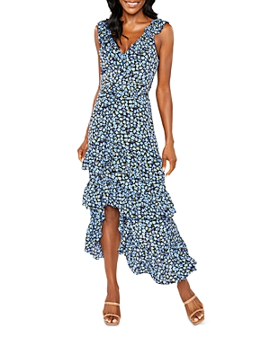 Morrell Ruffled Floral Midi Dress