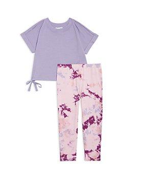 Splendid - Girls' Cropped Tee & Tie Dye Leggings Set - Little Kid