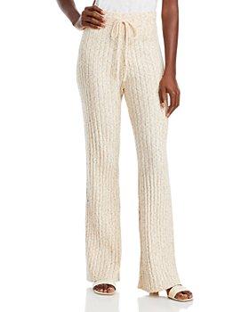 AQUA - Ribbed Knit Pants - 100% Exclusive