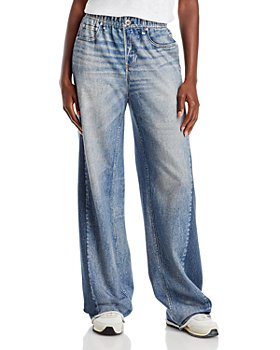rag & bone - Miramar Wide Leg Stretch Waist Jeans in Moonrise