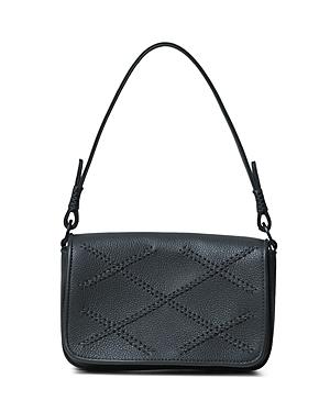 Iconic Cross Mini Leather Shoulder Bag