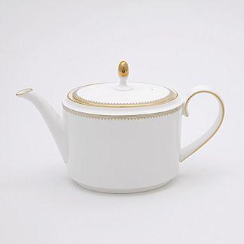 """Vera Wang - for Wedgwood """"Golden Grosgrain"""" Teapot"""