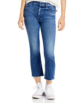 MOTHER - The Insider Crop Step Fray Jeans in Wish On A Star