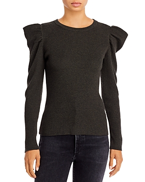 Cliche Puff Sleeve Ribbed Sweater (65% off)