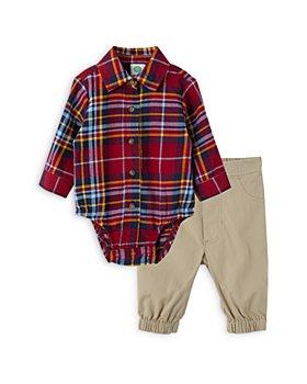 Little Me - Boys' Button Up Bodysuit & Khaki Pants Set - Baby