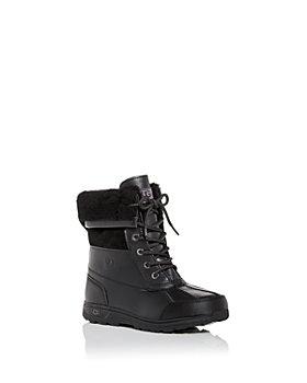 UGG® - Unisex Butte II Waterproof Leather Cold-Weather Boots - Little Kid, Big Kid