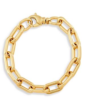 14K Yellow Oval Link Chain Bracelet