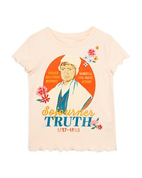 Peek Kids - Girls' The Truth Is Powerful Cotton Tee - Little Kid, Big Kid
