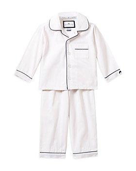 Petite Plume - Unisex White Pajama Set - Baby, Little Kid, Big Kid