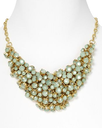 "AQUA - Mint Green Cluster Bead Necklace, 17"" - 100% Exclusive"