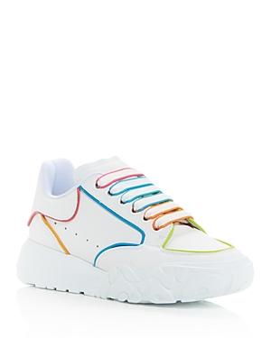 Alexander McQUEEN Women's Court Multicolor Trim Low Top Sneakers