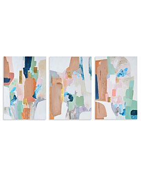 """Ren-Wil - Sorrento Abstract Canvas Wall Art, 24"""" x 36"""", Set of 3"""