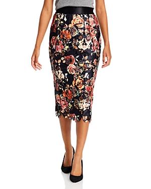 Floral Lace Applique Pencil Skirt (33% off) Comparable value $90