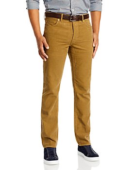Sid Mashburn - Slim Straight Fit Corduroy Jeans in Timber