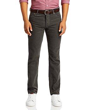 Sid Mashburn - Slim Straight Fit Corduroy Jeans in Smoke