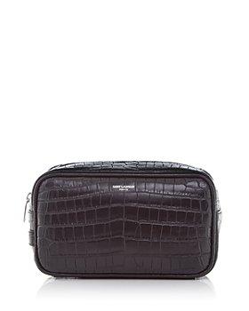 Saint Laurent - Small Croc Embossed Leather Cosmetics Bag