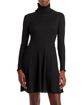 AQUA - Turtleneck Knit Dress - 100% Exclusive