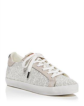 KURT GEIGER LONDON - Women's Lexi Eagle Glitter Lace Up Sneakers