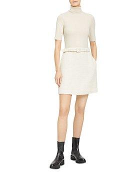 Theory - Knit Combo Turtleneck Dress
