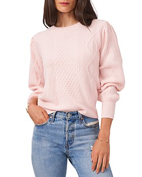 1.STATE - Mixed Knit Crewneck Sweater