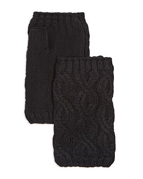 Echo - Recycled Cable Knit Fingerless Gloves