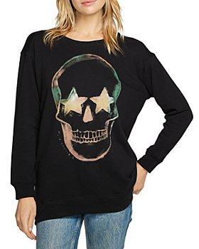 CHASER - Skull Graphic Long Sleeve Pullover