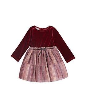 Pippa & Julie - Girls' Velvet Bodice Dress - Little Kid
