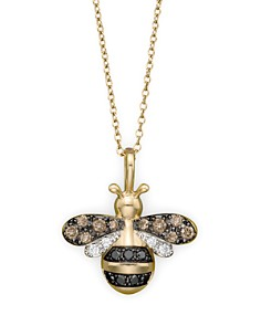 Bloomingdale's - Diamond Bumble Bee Pendant Set In 14K Yellow Gold, 0.20 ct - 100% Exclusive