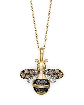 Bloomingdale's - Diamond Bumble Bee Pendant Set in 14K Yellow Gold, 0.20 ct. t.w. - 100% Exclusive