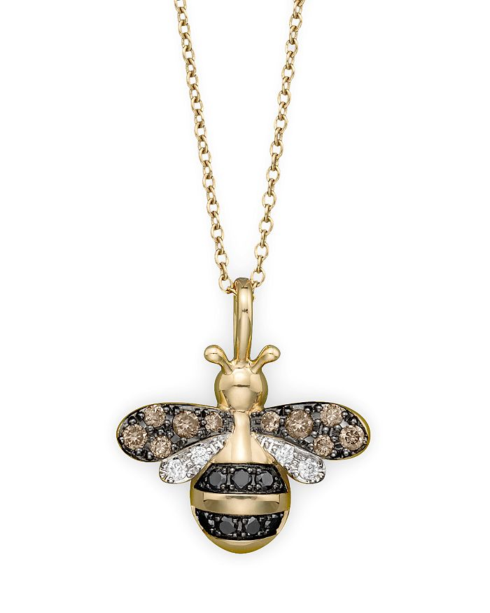 Bloomingdale's - Diamond Bumble Bee Pendant Set in 14K Yellow Gold, 0.20 ct. t.w.- 100% Exclusive