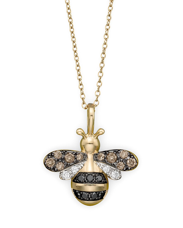 Diamond bumble bee pendant set in 14k yellow gold 020 ct tw pdpimgshortdescription aloadofball Gallery