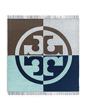 Tory Burch - Jacquard Color Block Logo Wool Scarf