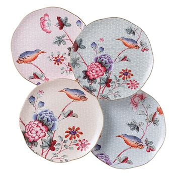 """Wedgwood - """"Cuckoo"""" Tea Story Tea Plates, Set of 4"""