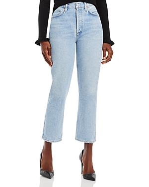 Agolde Riley Crop High Rise Jeans in Dimension