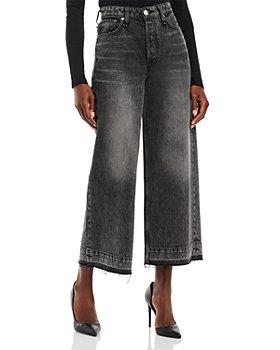 rag & bone - Maya High Rise Ankle Jeans in Black Opal