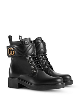 Gucci - Women's Lace Up Strap Booties