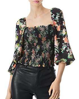 Alice and Olivia - Cooper Smocked Top