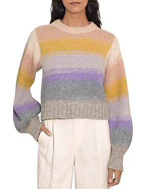 Joy Striped Blouson Sleeve Sweater