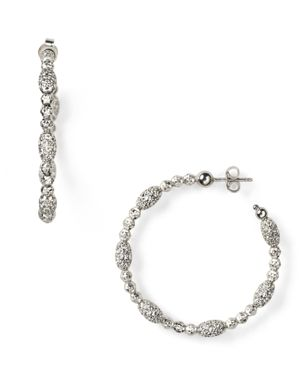 OFFICINA BERNARDI MOON OVAL BEAD MEDIUM HOOP EARRINGS
