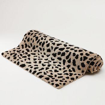 Abyss Cheetah Print Bath Rug