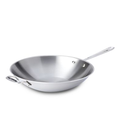 """All Clad Stainless Steel 14"""" Open Stir Fry Pan"""