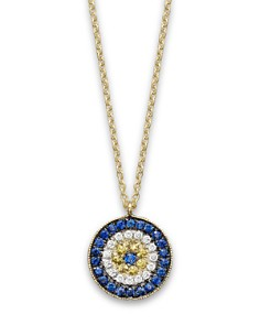 """Meira T 14K Yellow Gold/Diamond """"Evil Eye"""" Necklace, 16"""" - Bloomingdale's_0"""