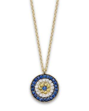Meira T 14K Yellow Gold/Diamond Evil Eye Necklace, 16