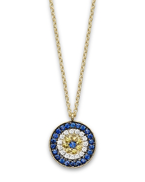 Click here for Meira T 14K Yellow Gold/Diamond Evil Eye Necklace... prices
